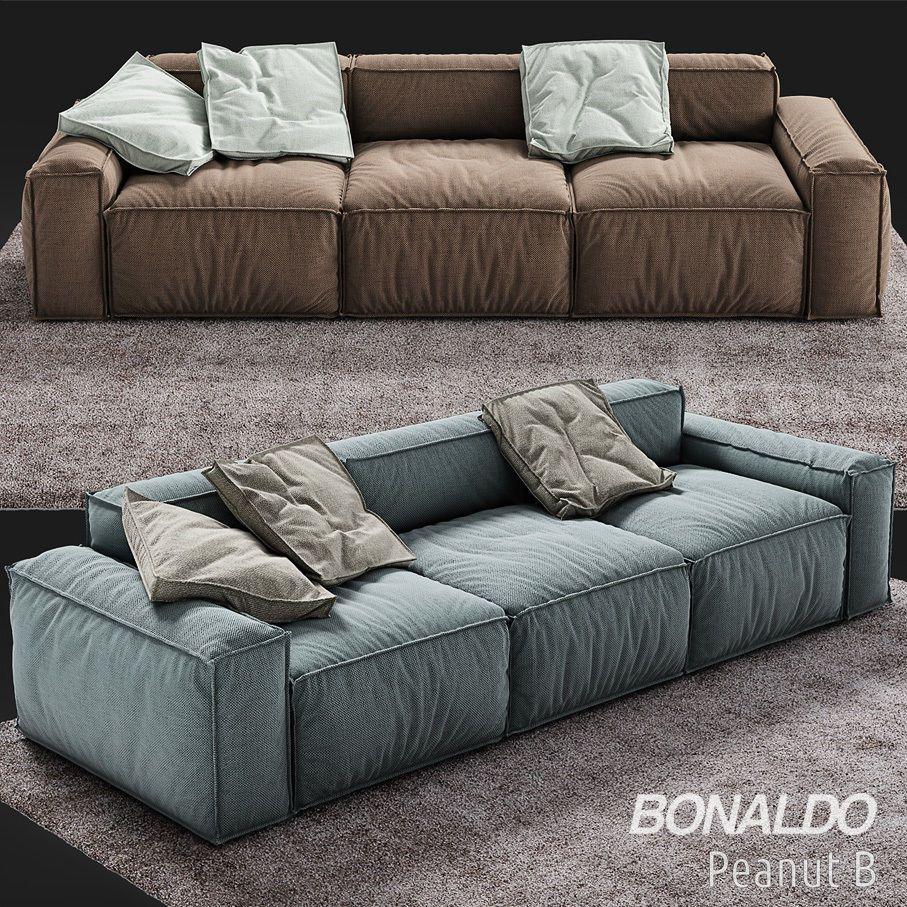 Bonaldo Peanut B 3d Model In 2020 Sofa Design Seater Sofa Upholstered Sofa