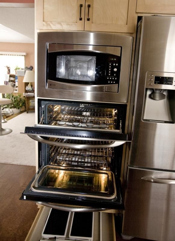 Perfect Stacked Microwave And Double Oven | Kitchen | Pinterest | Oven, Kitchens  And House