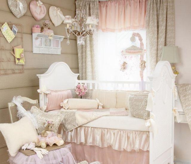 GroBartig Shabby Chic Kinderzimmer Weiss Rosa Wanddeko Kleiderhacken Jpg