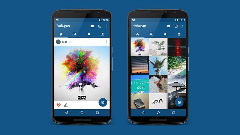 Instagram Material Redesign