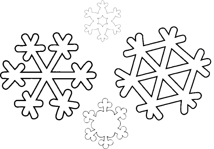 Some Types Of Simple Snowflake Coloring Pages - Winter Coloring ...