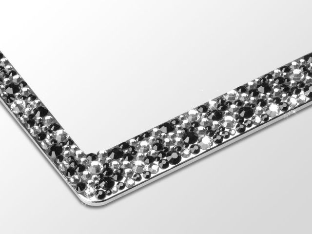 rhinestone bling license plate frames for cars trucks or motorcycles