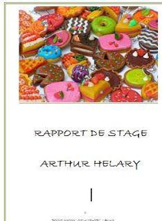 rapport de stage et fin etudes | Stage patisserie, Rapport ...
