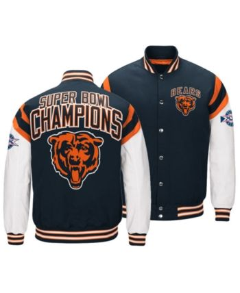 08e4986a880 Authentic Nfl Apparel Men s Chicago Bears Home Team Varsity Jacket -  Navy White XXL