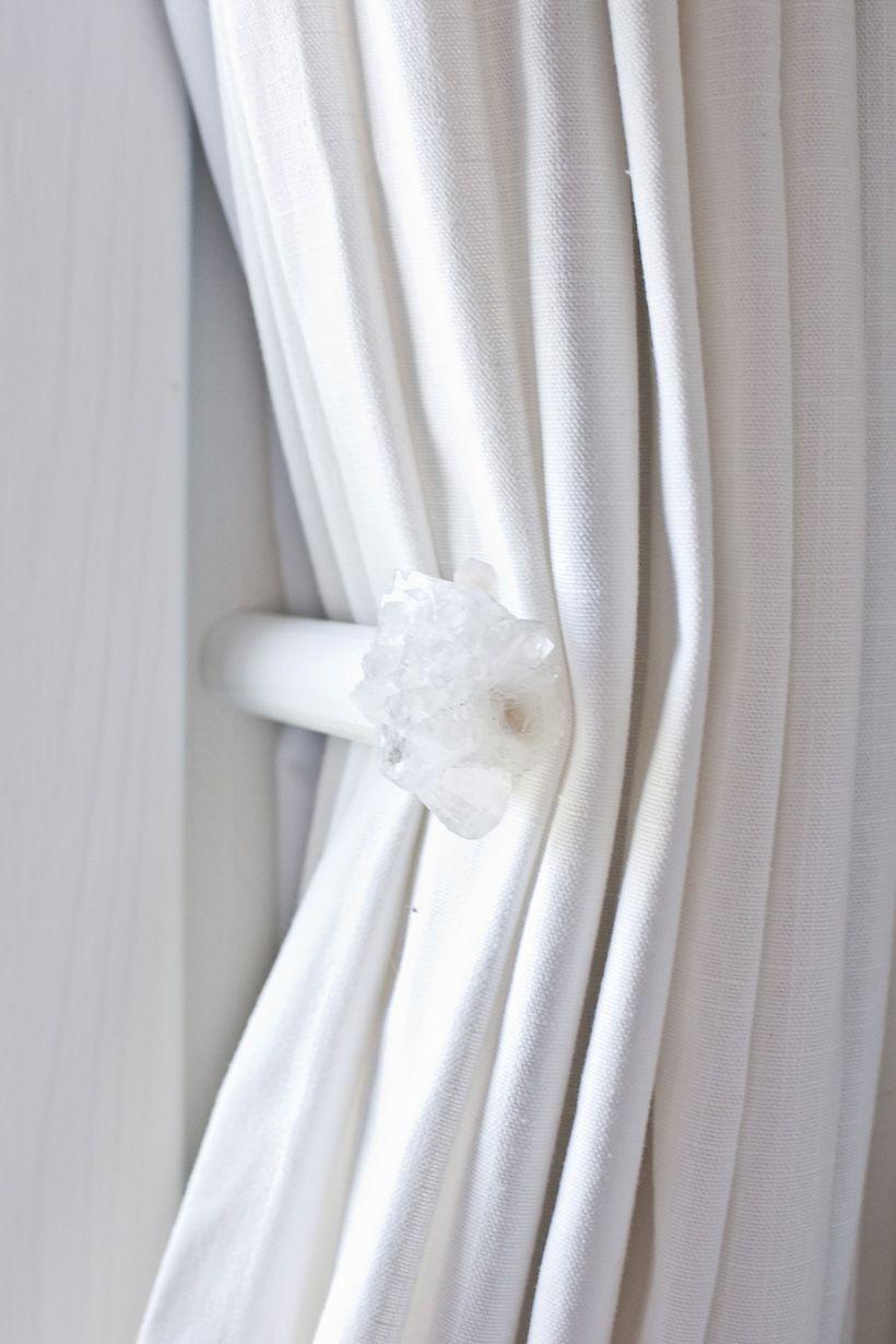 Diy Crystal Curtain Holdbacks In 2020 Diy Crystals Crystal