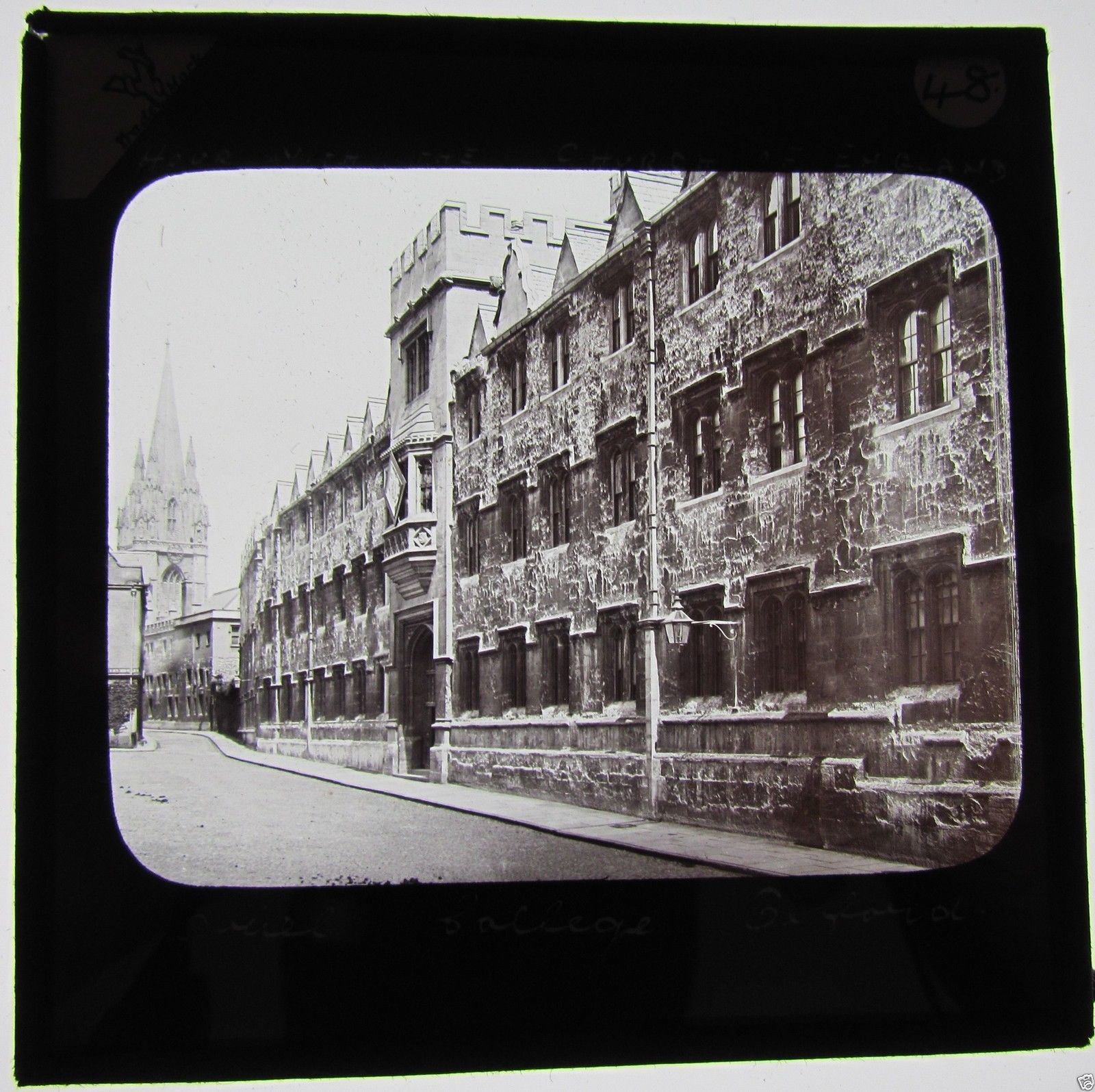Glass Magic lantern slide ORIEL COLLEGE C1890 OXFORD OXFORDSHIRE | eBay