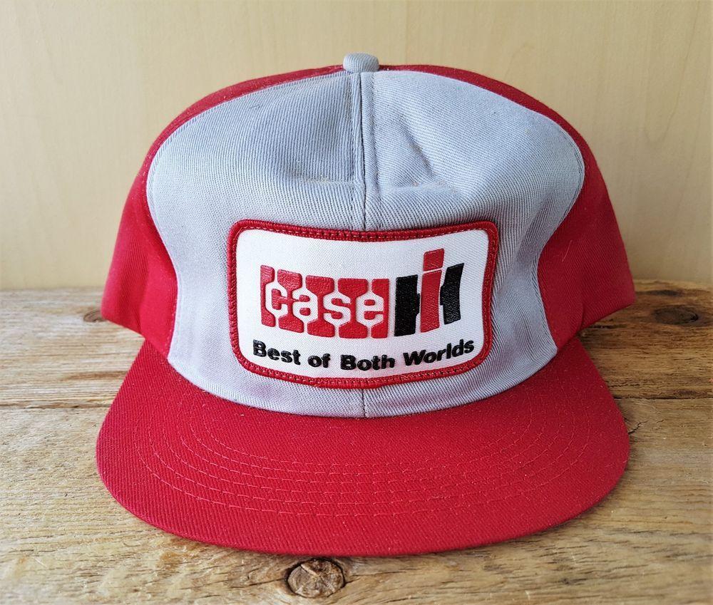 46cf6c14af27e Vtg CASE INTERNATIONAL HARVESTER Trucker Hat K-Brand USA Snapback Tractor  Cap  KBrand  BaseballCap
