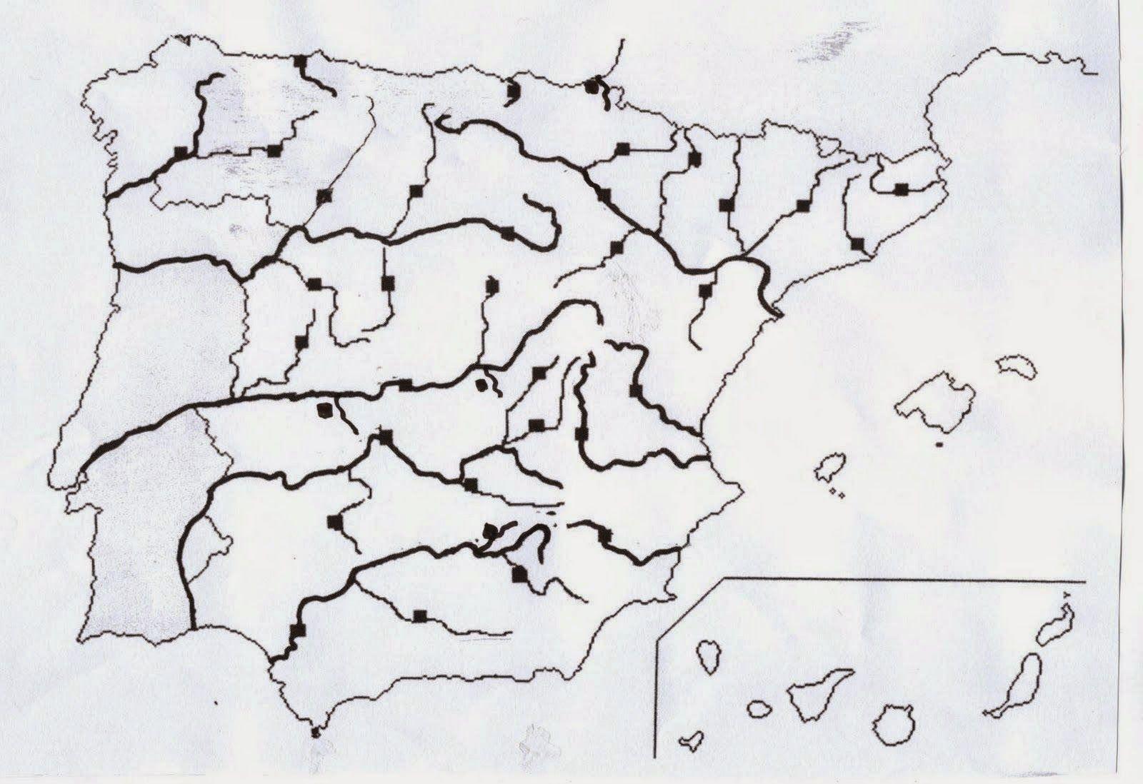Mapa De España Mudo Rios Para Imprimir.Resultado De Imagen De Mapa Fisico De Espana Para Rellenar