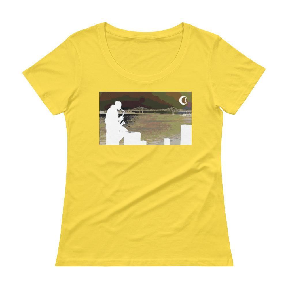 Blow your Horn NOLA • Ladies' Scoopneck T-Shirt