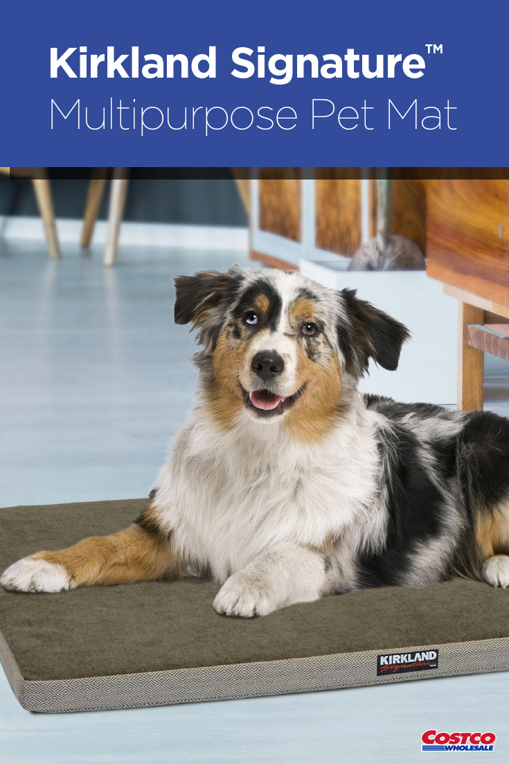 Your Pet Will Love Lounging On The New Kirkland Signature Multipurpose Pet Mat They Will Get Support From The 1 5 Cooling Gel Memory Pet Mat Pets Happy Dogs