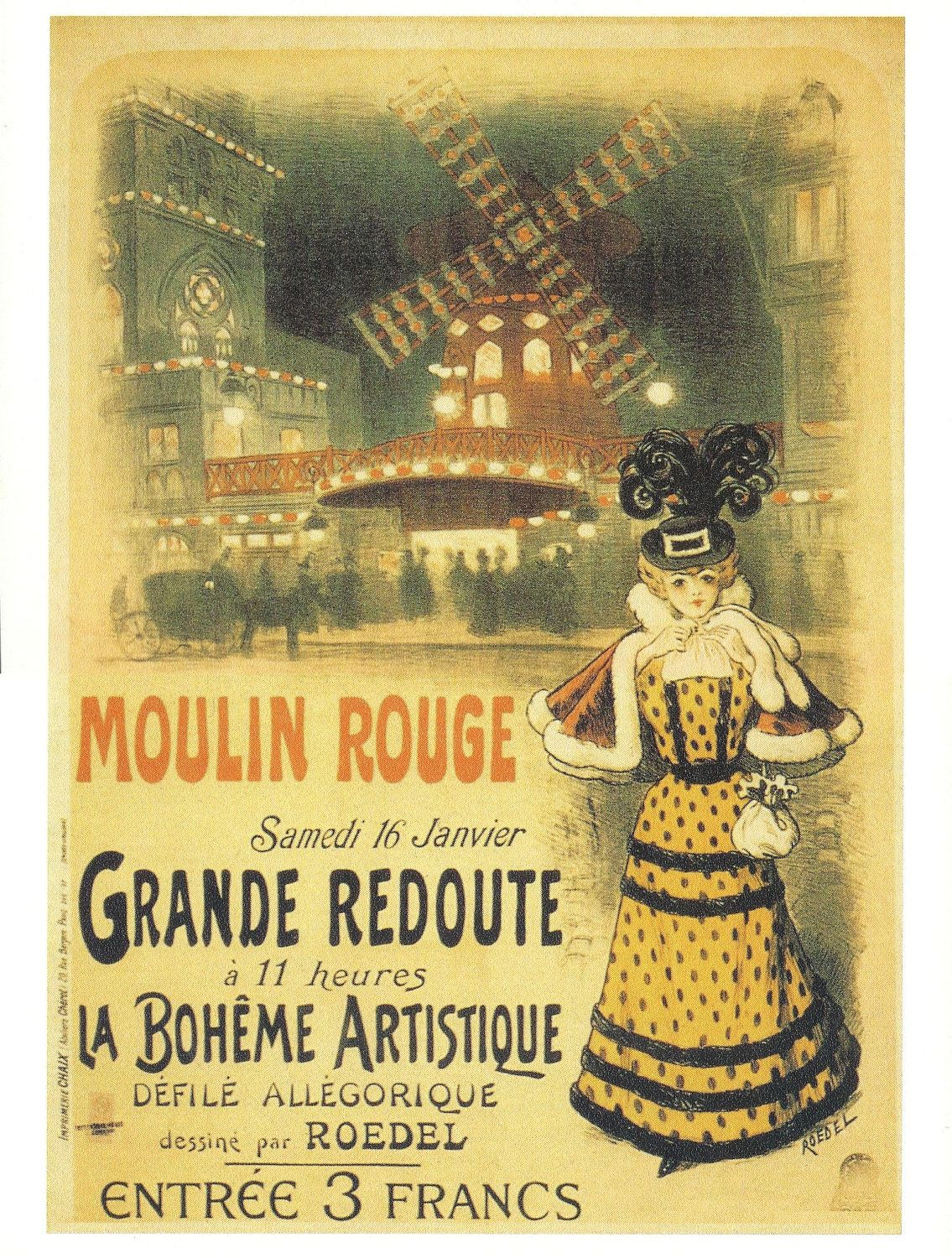 Artistic vintage advertisments, posters, art | cancan in