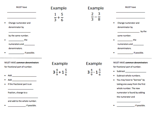 Subtracting Fractions by Borrowing with Mixed Numbers Worksheet – Subtracting Mixed Numbers with Regrouping Worksheets