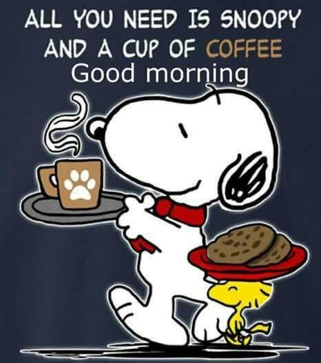 Morgen snoopy bilder guten 37+ Snoopy