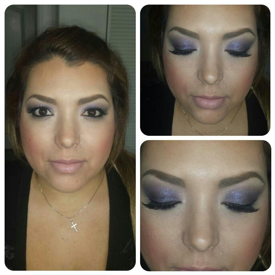 Bridesmaid trial makeup for a wedding I am working tomorrow #makeupartist #makeupbytiffanymarie