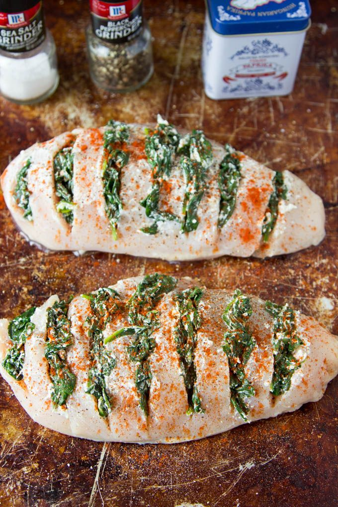Spinach Goat Cheese Hasselback Chicken Recipe Hasselback Chicken Cooking Recipes Food
