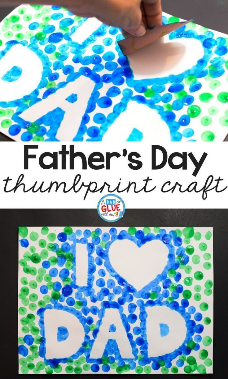 Photo of I Love Dad Thumbprint Craft for Father's Day