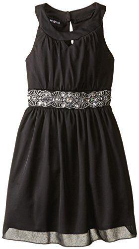 Amy Byer Big Girls' U-Neck Dress with Embellished Waist, Black/White, 12 Amy Byer http://smile.amazon.com/dp/B00S16W53U/ref=cm_sw_r_pi_dp_-2SDvb06WMYPC