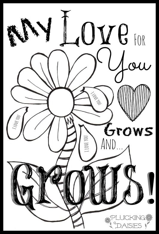 Valentine coloring cards free printable Valentine cards for kids – Free Printable Coloring Valentine Cards