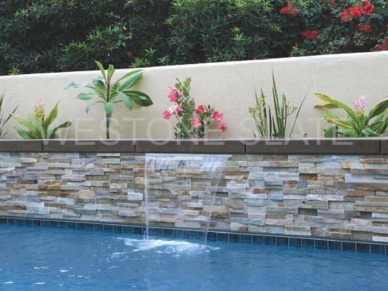 Pool Waterline Tile Ideas pool waterline tile ideas waterline tiles aztec Oyster Quartz Ledger Stone Panles For Pool
