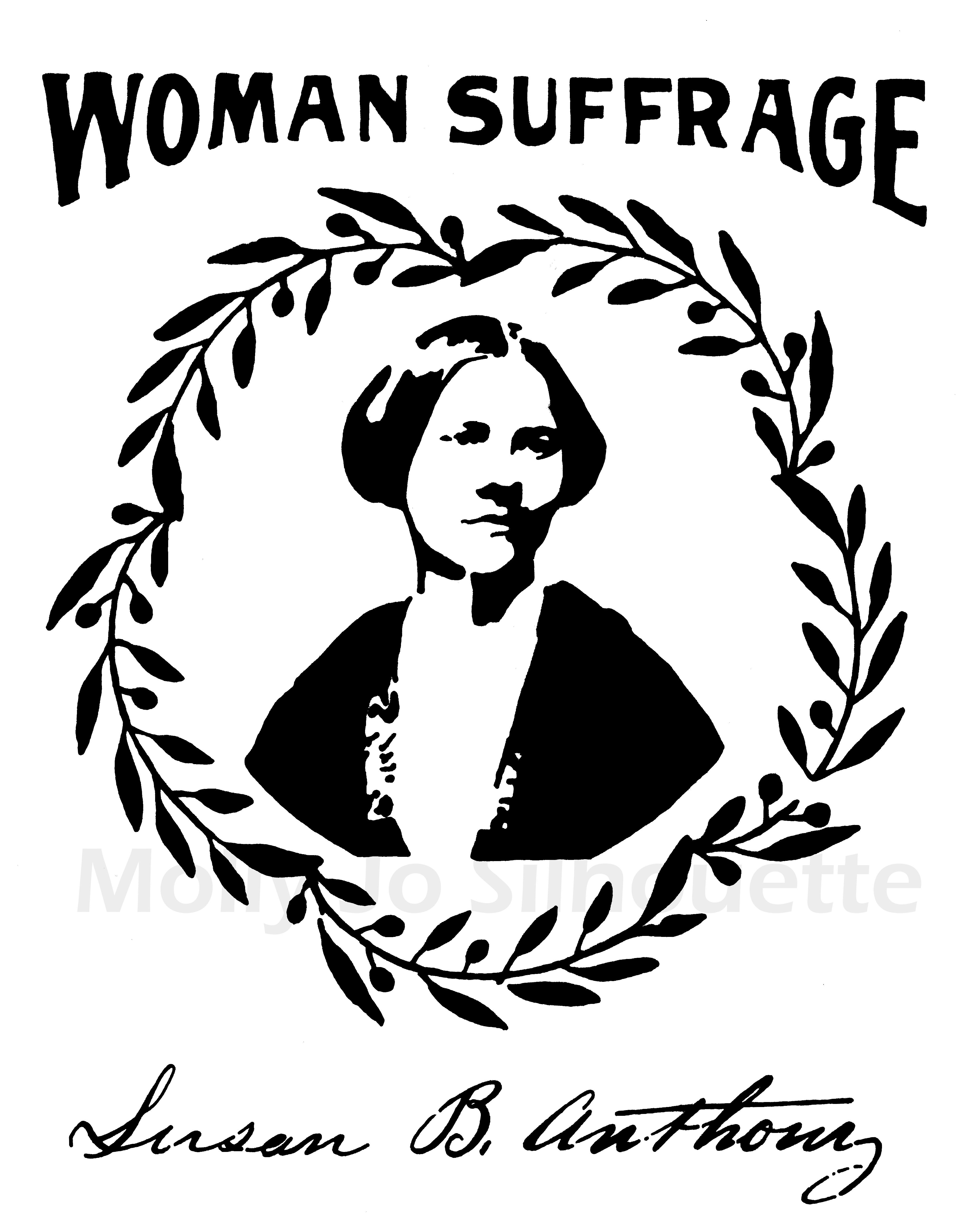 Susan B Anthony Drawing Print Feminist Art Suffragette