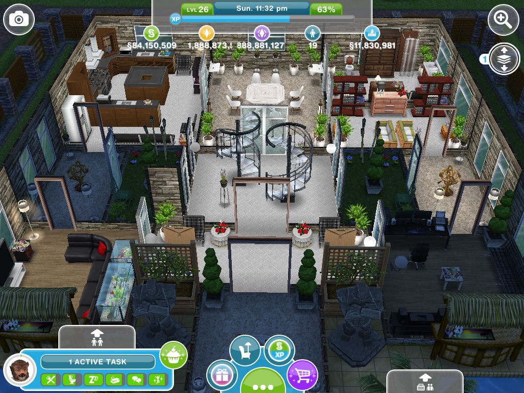 The interior of henry ravenscat 39 s house first floor i for Casa de diseno sims freeplay