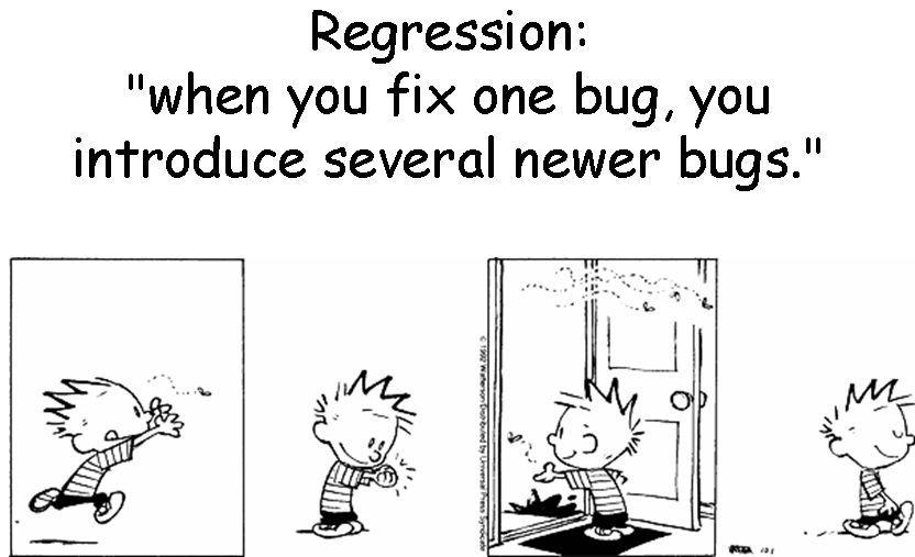 Image result for regression test funny