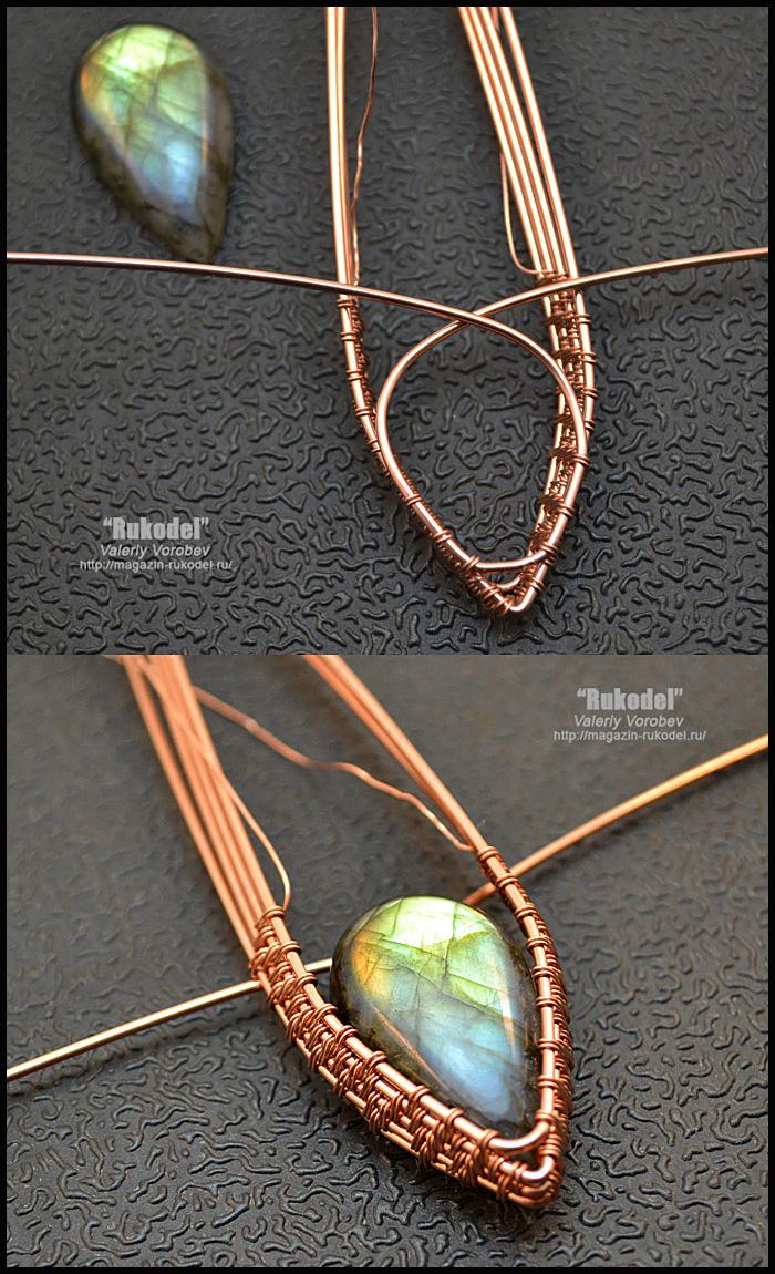 Photo of Copper wire jewelry. Wire wrap tutorial. (103)