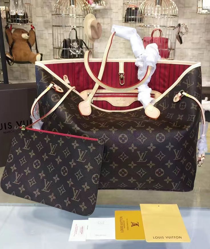 95192bcc08e3 The inside of this louis vuitton monogram canvas neverfull is re designed  with cherry jpg 736x872