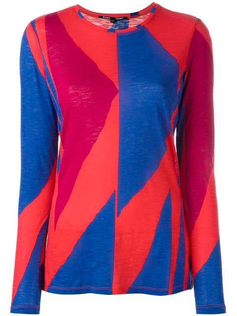 PROENZA SCHOULER geometric print T-shirt. #proenzaschouler #cloth #t-shirt