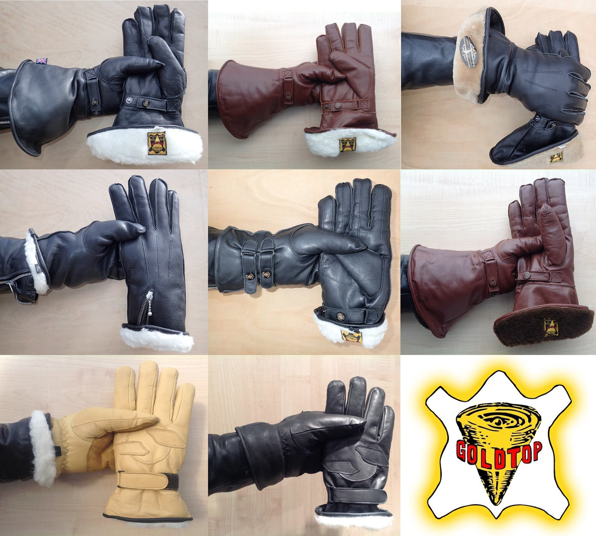 Insulated leather motorcycle gloves - A Selection Of Goldtop S Sheepwool And Sheep Skin Lined Cafe Racer Motorcycle Gloves Cruiser Gloves