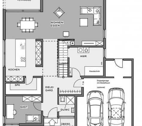 BauhausVilla floor_plans 1 Grundriss einfamilienhaus