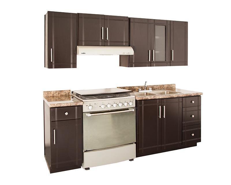 Cocina ebano 240 cm con 9 puertas 3126653 coppel cocinas integrales in 2019 kitchen home - Precios cocinas integrales ...