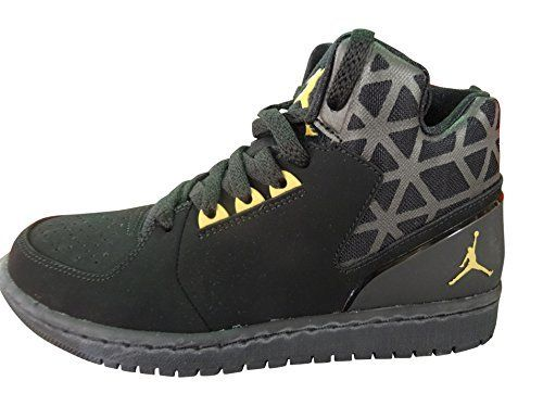 f184f7069691 nike air jordan 1 flight 3 mens hi top basketball trainers 706954 sneakers  shoes US 9 black metallic gold white 016     More info could be found at  the ...
