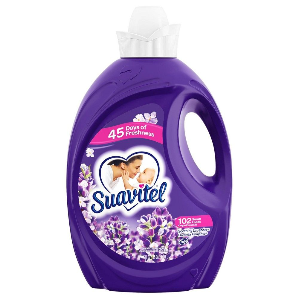 Suavitel Fabric Softener Soothing Lavender 135 Fl Oz Liquid