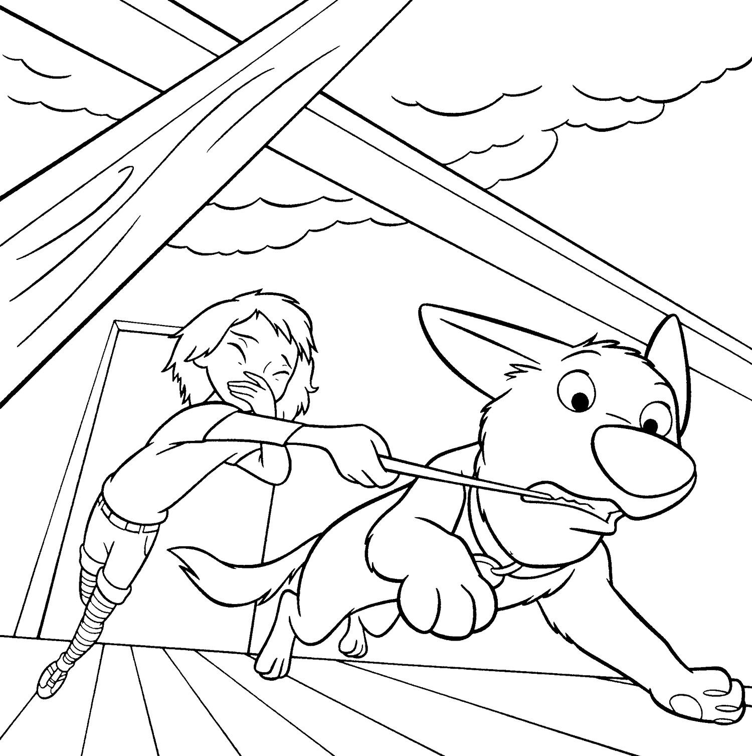 Bolt Angry Coloring Page | Disney | Pinterest