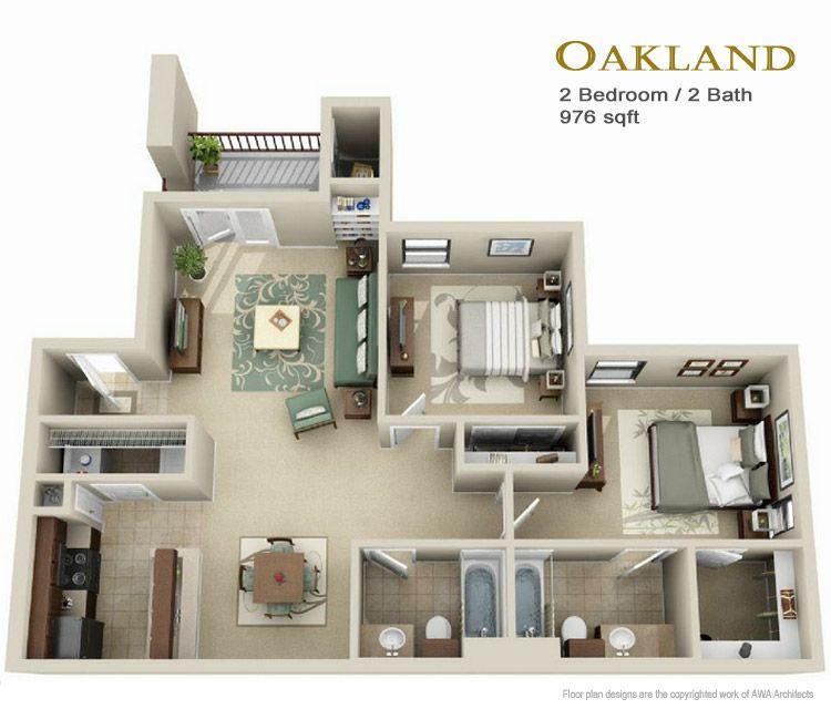Unique 10+ 2 Bedroom Apartment Floor Plans 3D Decorating ...