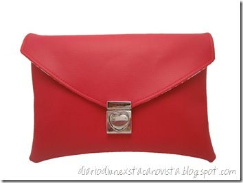 Red Soy Envelope Clutch da etsy