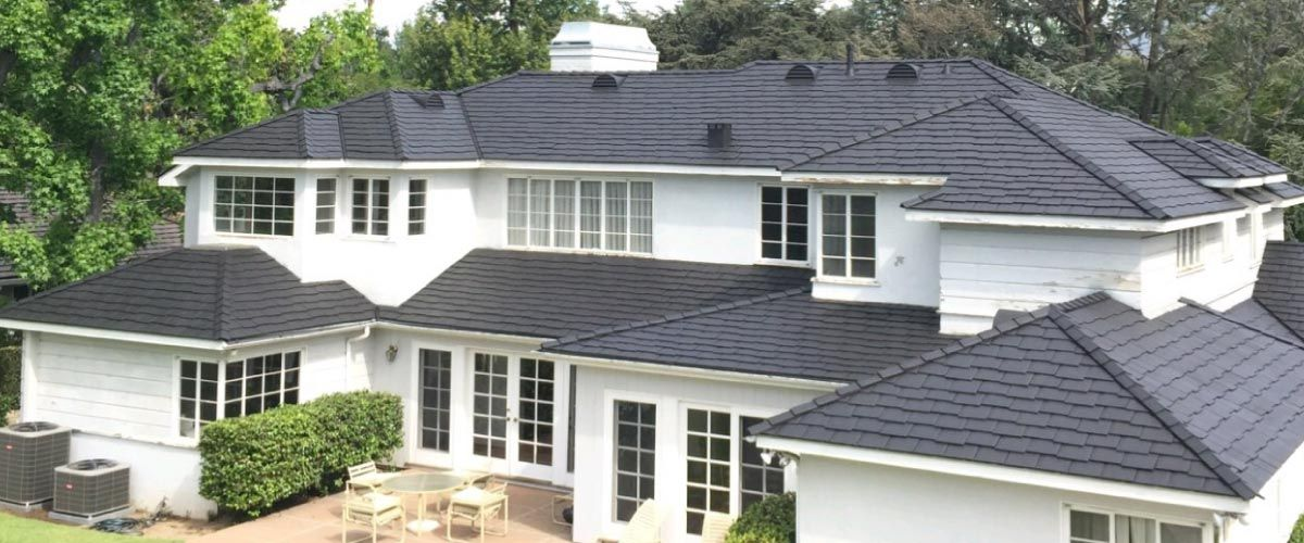 Painting Concrete Roof Tiles In 2020 Concrete Roof Tiles Roof Restoration Concrete Tiles