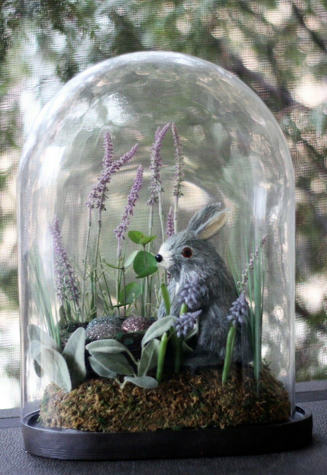 Pottery Barn Garden Bunny Rabbit Easter Cloche Discontinued
