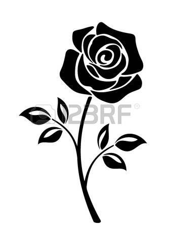 Resultado De Imagen De Vectores De Rosas Blanco Y Negro Cameo