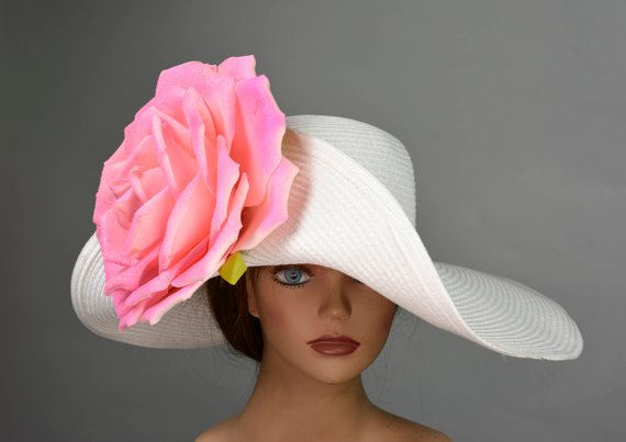 25ea28df Off White Church Wedding Hat Head Piece Kentucky Derby Hat White Bridal  Coctail Hat Couture Fascinat