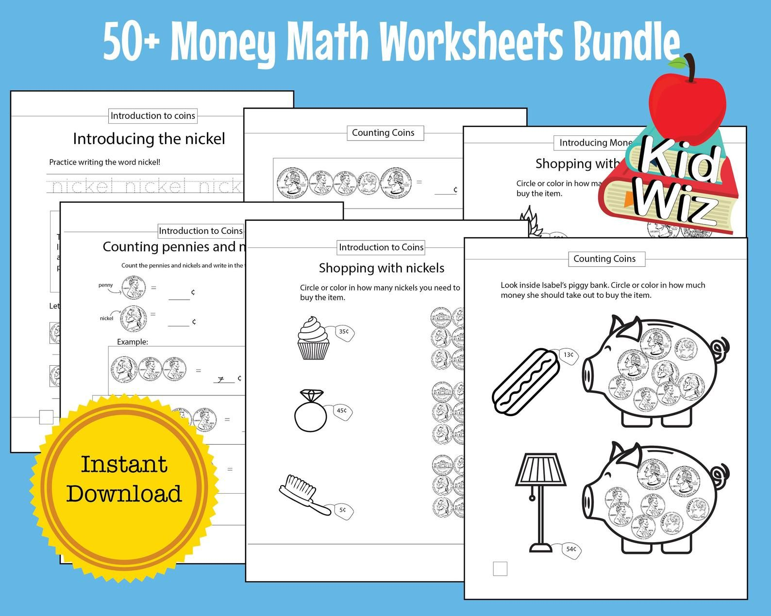 Maths Kids Printables Counting Coins Money Math Worksheet
