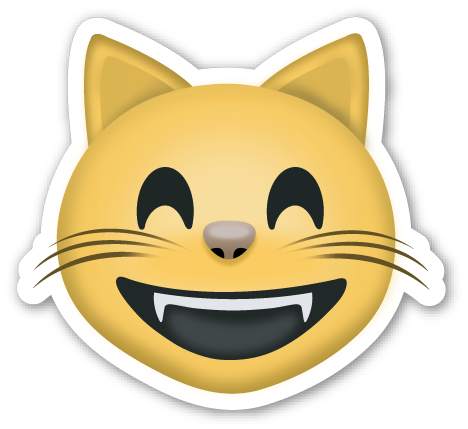 Grinning Cat Face with Smiling Eyes Cat face, Emojis and