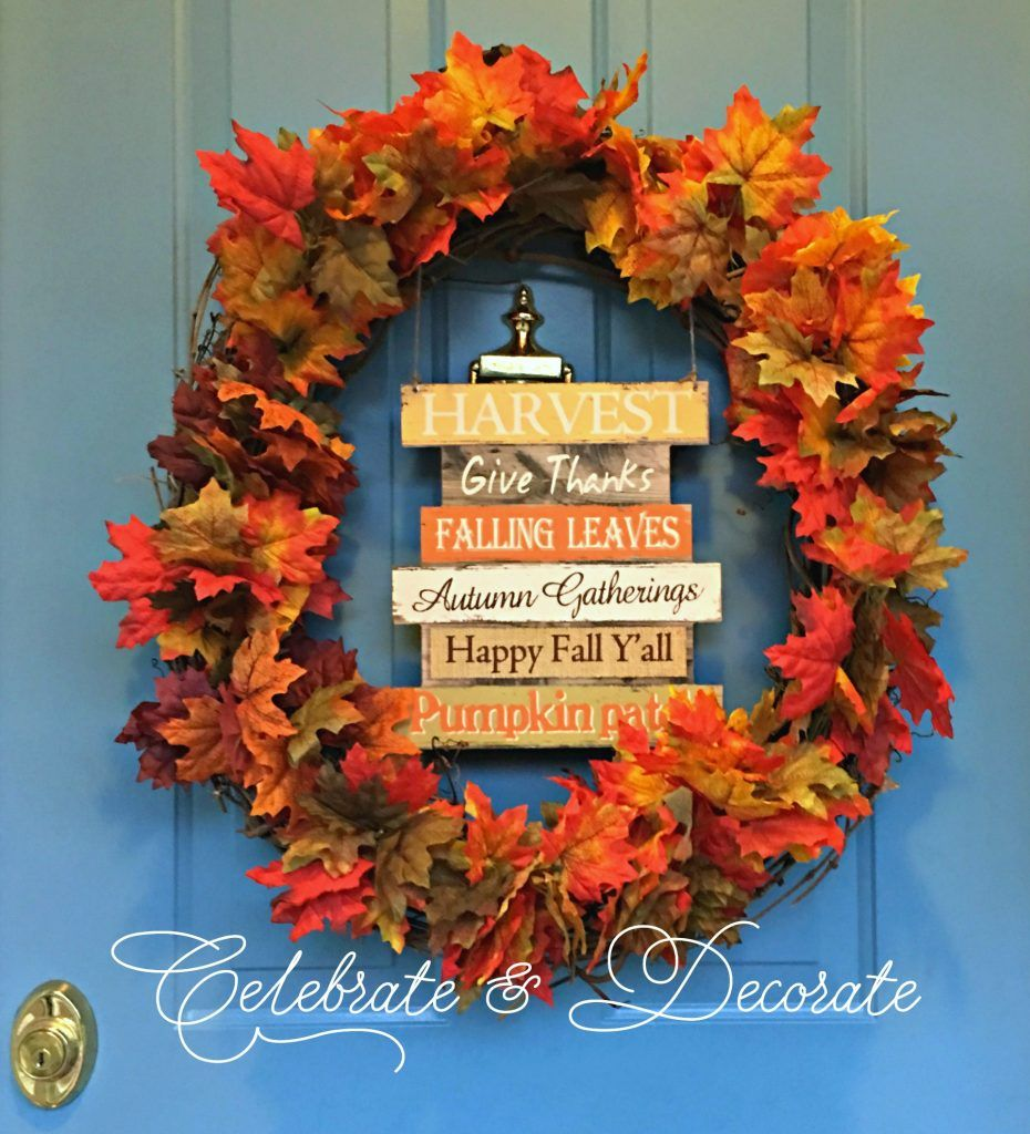 Quick and Easy DIY Fall Wreath | Wreaths, Dollar stores and Craft