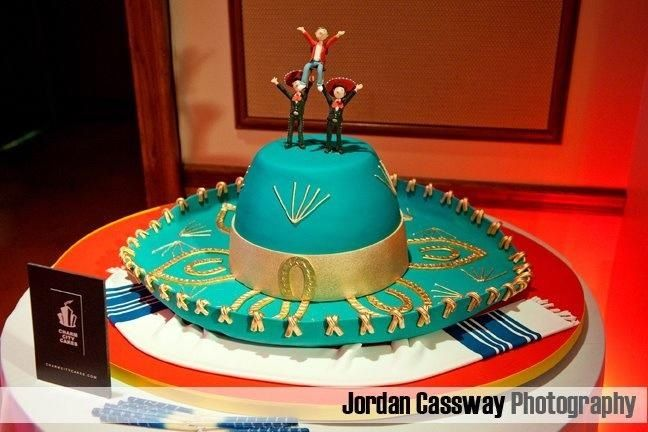 8b53558096c32 Pastel mexicano con forma de sombrero charro.