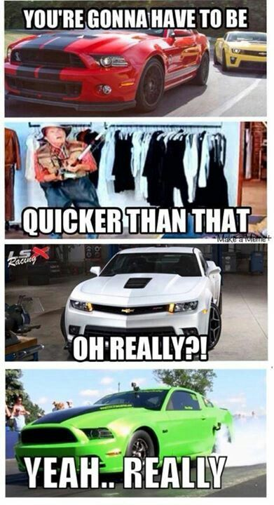 Mustang All Day Ford Humor Chevy Jokes