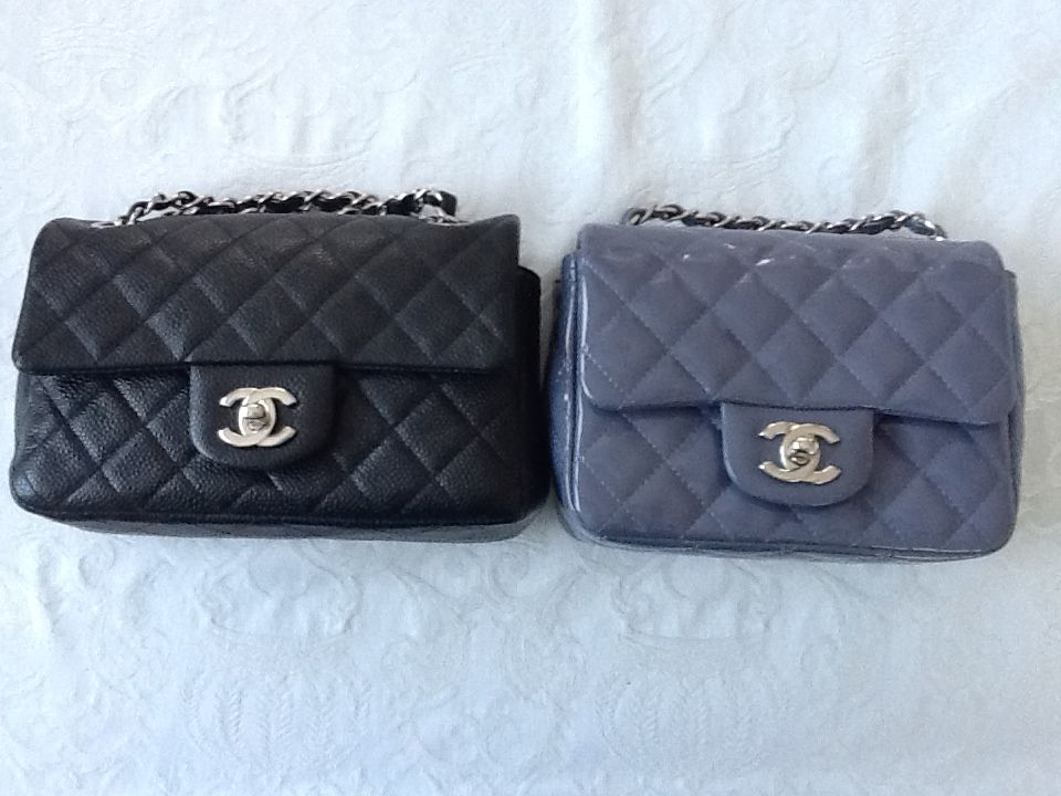 ec3660cc2c01 Chanel mini size comparison: 12 C A65055 and A35200   Chanel ...