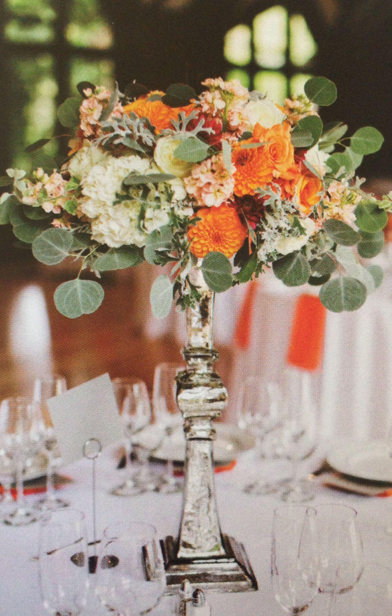Love the orange centerpiece unique diy wedding centerpieces