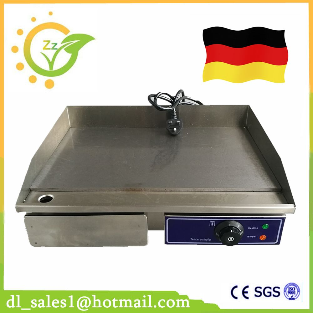 Commercial Electric Griddle 3000w Flat Pan Griddles Electric Flat Griddle 220v Stainless Steel Restaurant Frying Equi Steel Restaurant Home Appliances Flat Pan