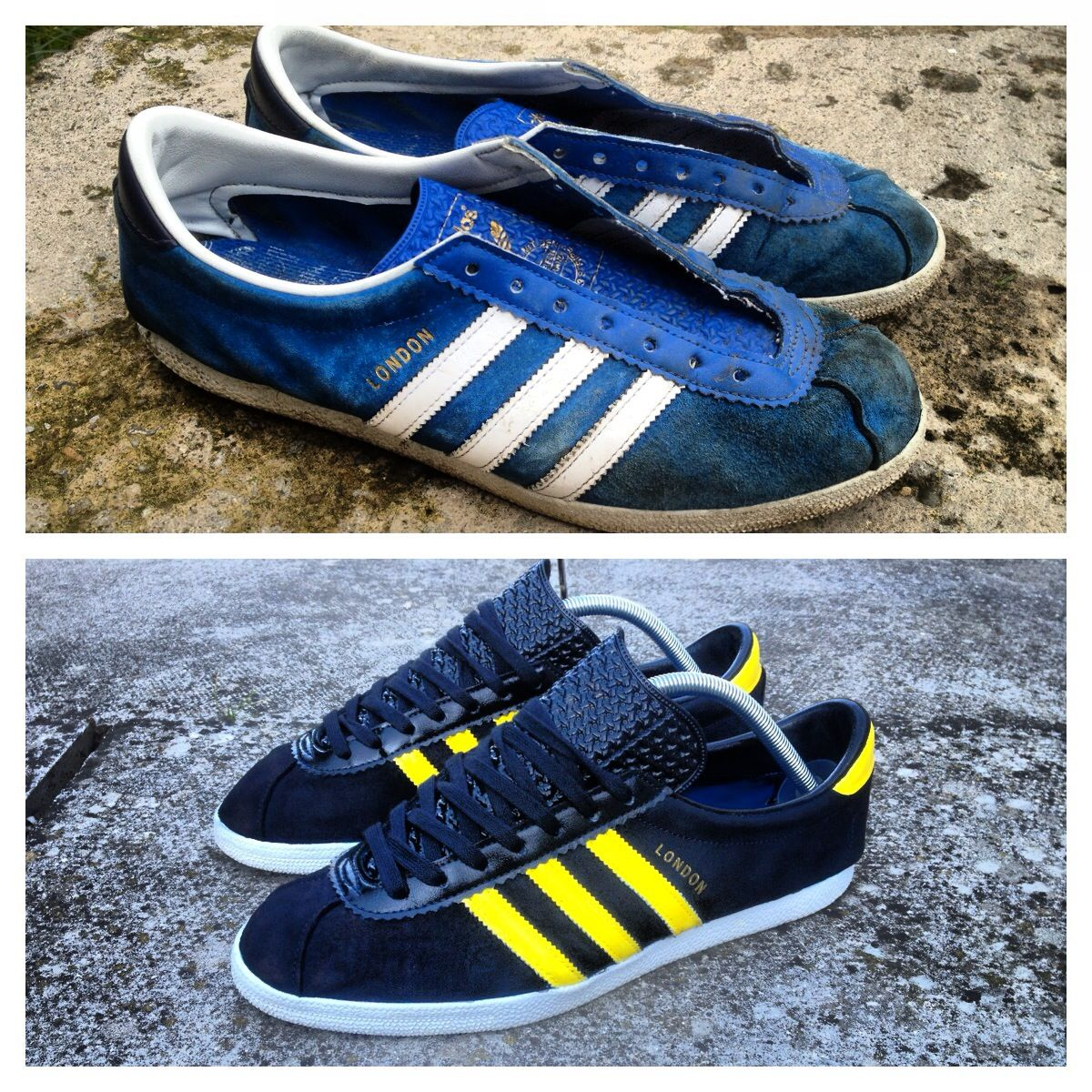 8f60bd2bbe56 A customised Adidas London in the Cardiff CW Adidas Samba